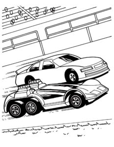 Машинки хот вилс картинки раскраски (19)