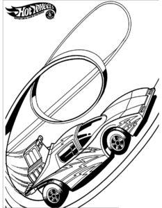 Машинки хот вилс картинки раскраски (2)