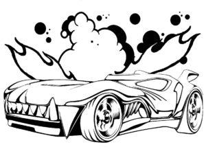 Машинки хот вилс картинки раскраски (23)