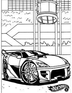 Машинки хот вилс картинки раскраски (3)
