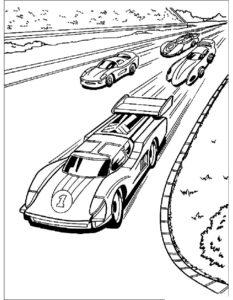 Машинки хот вилс картинки раскраски (4)
