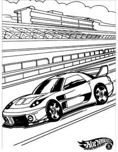 Машинки хот вилс картинки раскраски (5)