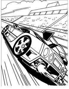 Машинки хот вилс картинки раскраски (6)