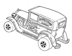 Машинки хот вилс картинки раскраски (8)