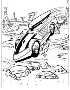 Машинки хот вилс картинки раскраски (9)