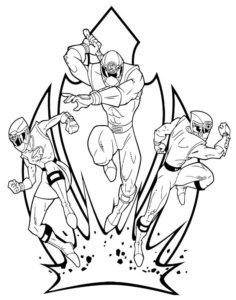Могучие рейнджеры картинки раскраски (48)