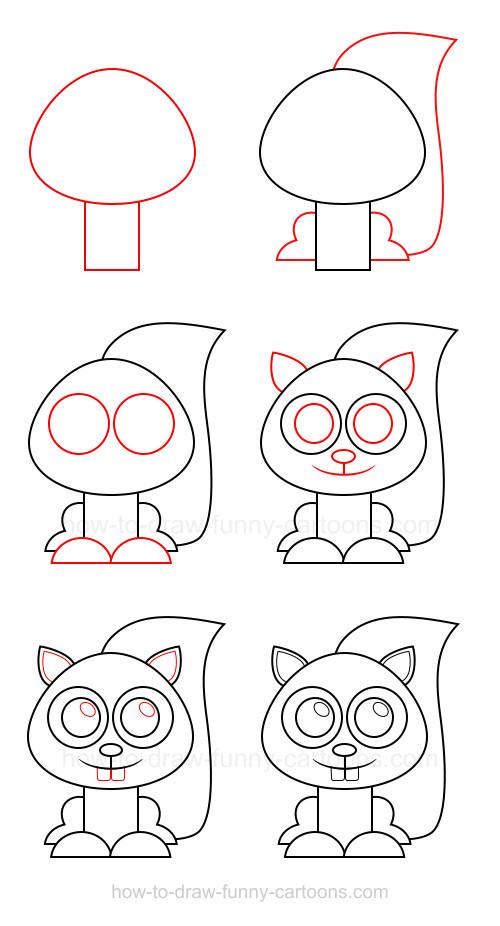 -белка Как нарисовать белку