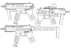 Оружие картинки раскраски (1)