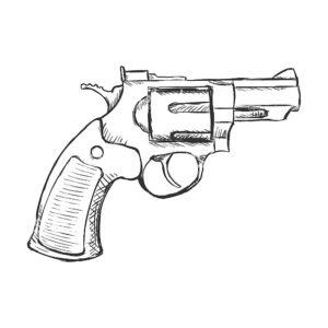 Оружие картинки раскраски (10)