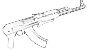 Оружие картинки раскраски (14)