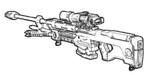 Оружие картинки раскраски (16)