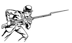 Оружие картинки раскраски (17)