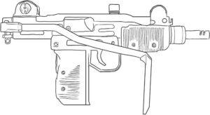 Оружие картинки раскраски (20)