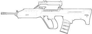 Оружие картинки раскраски (21)