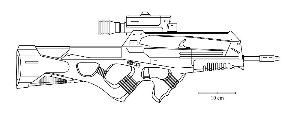 Оружие картинки раскраски (22) - Рисовака