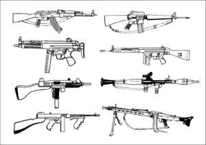 Оружие картинки раскраски (27)