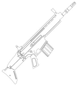 Оружие картинки раскраски (28)