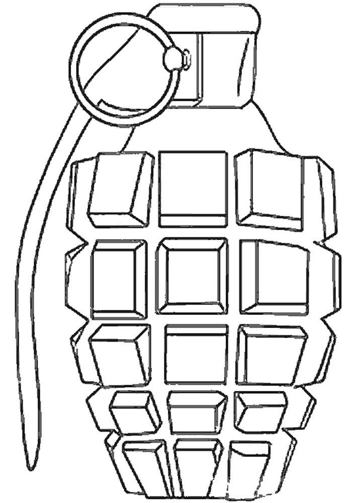 Оружие картинки раскраски (3) - Рисовака