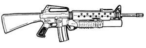 Оружие картинки раскраски (30)