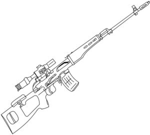 Оружие картинки раскраски (31)