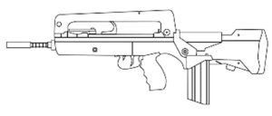 Оружие картинки раскраски (35)