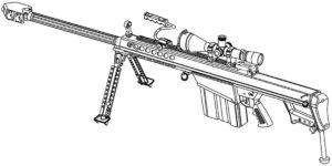 Оружие картинки раскраски (36)