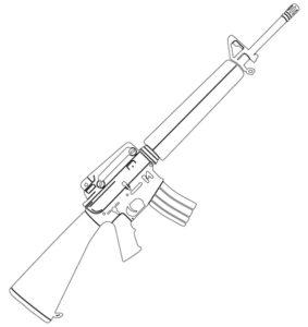 Оружие картинки раскраски (38)