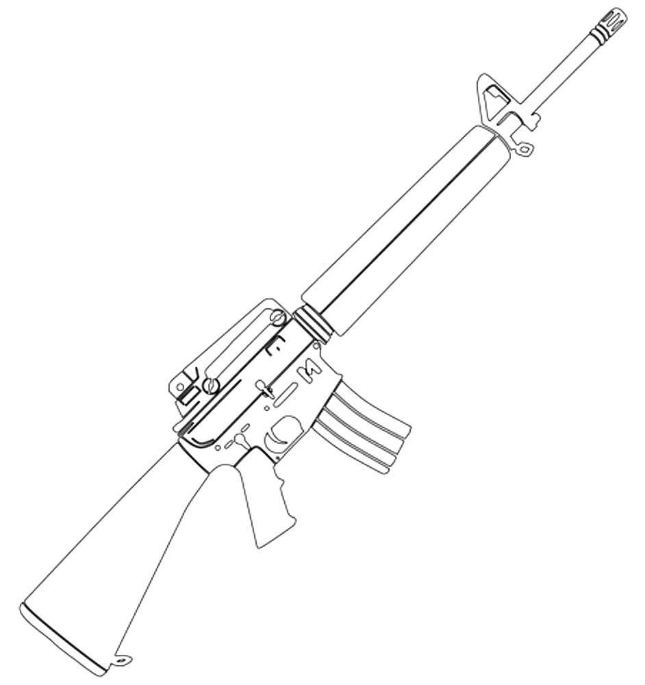 пулемет картинка для раскраски освещения мансарды