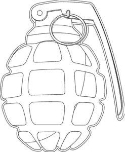 Оружие картинки раскраски (4)