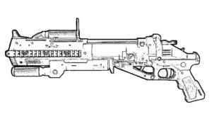 Оружие картинки раскраски (41)