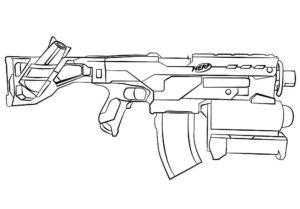 Оружие картинки раскраски (42)
