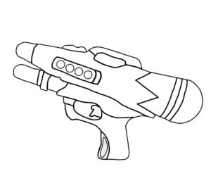 Оружие картинки раскраски (43)
