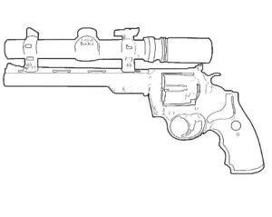 Оружие картинки раскраски (48)