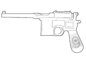 Оружие картинки раскраски (49)