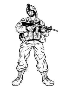 Оружие картинки раскраски (50)