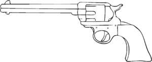 Оружие картинки раскраски (52)