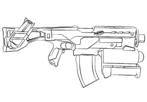 Оружие картинки раскраски (54)
