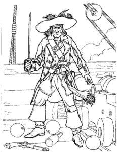 Пираты картинки раскраски (1)