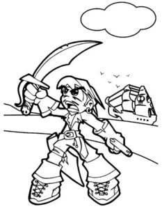 Пираты картинки раскраски (10)