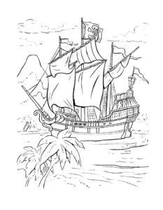 Пираты картинки раскраски (12)
