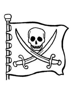 Пираты картинки раскраски (13)