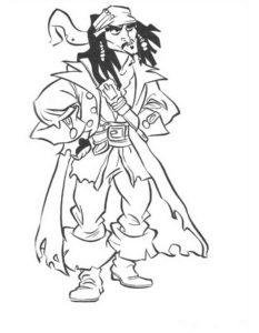 Пираты картинки раскраски (15)