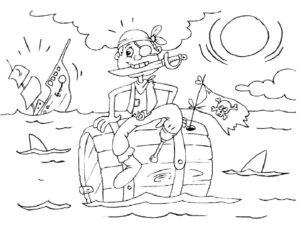 Пираты картинки раскраски (16)
