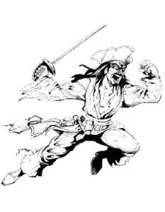Пираты картинки раскраски (17)