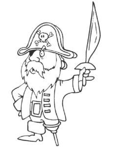 Пираты картинки раскраски (19)