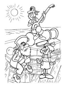 Пираты картинки раскраски (2)