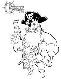 Пираты картинки раскраски (20)