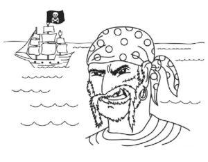 Пираты картинки раскраски (21)