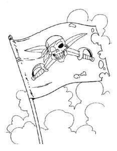 Пираты картинки раскраски (22)