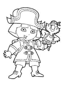 Пираты картинки раскраски (23)